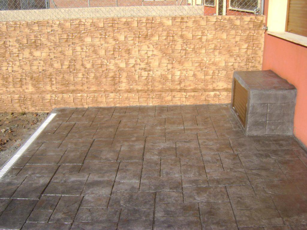 pavimentacion de hormigon impreso en Zaragoza